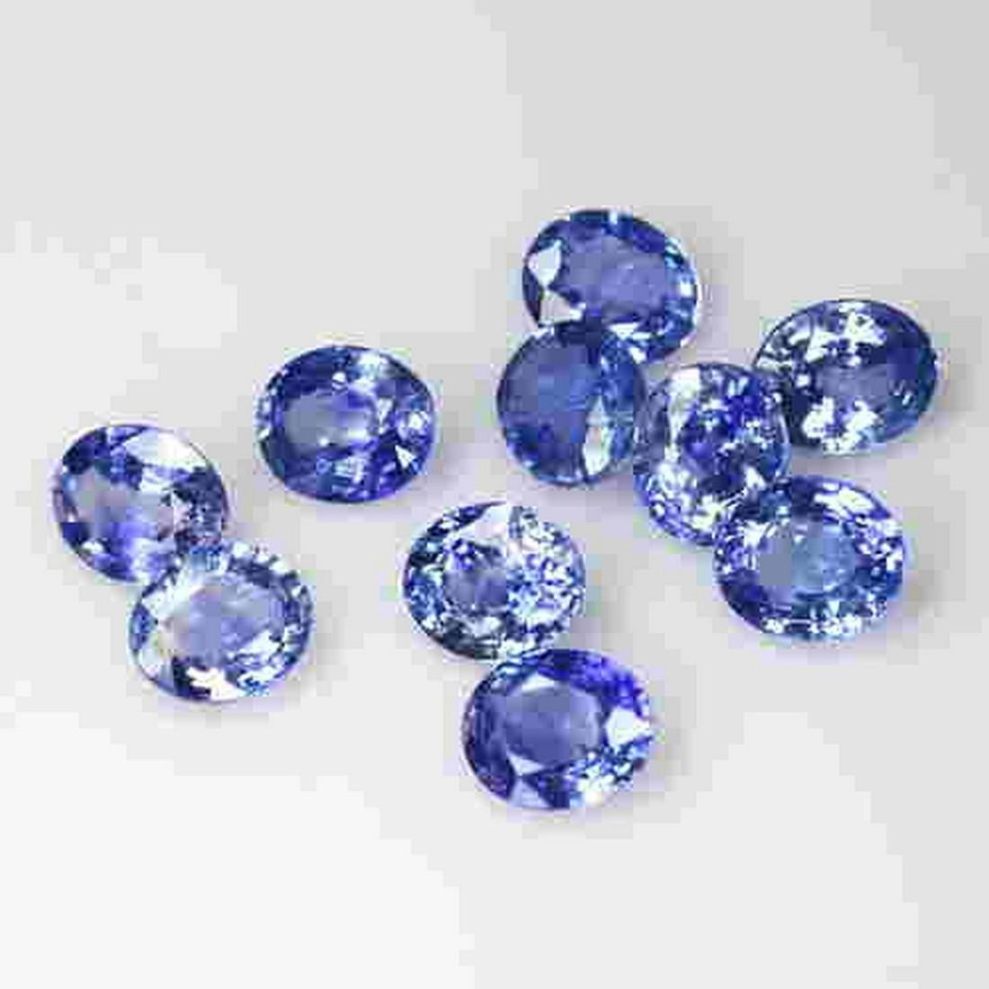 10 PCS 7.60 CTS NATURAL SRI LANKA BLUE SAPPHIRE OVAL