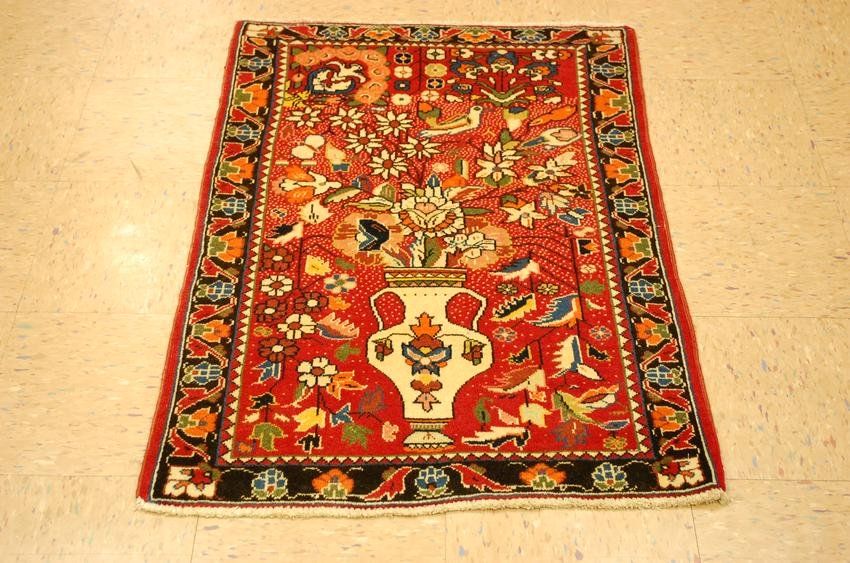 "c1930s ANTIQUE GREAT SIZE SARUK RUG 2' 4"" x 3'8"" KORK"