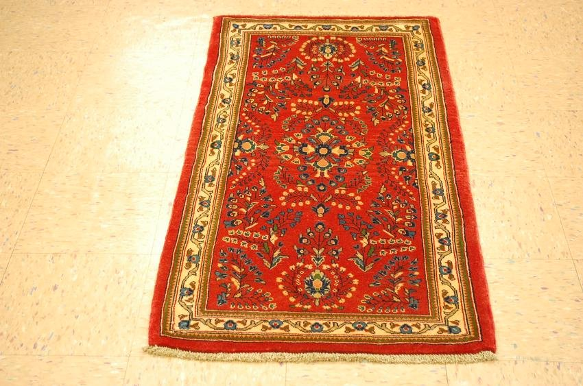"c1930s ANTIQUE GREAT SIZE SARUK RUG 2' 3"" x 4'9"" KORK"