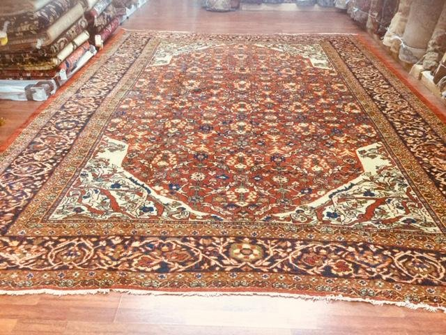 "Antique Persian Zigler Mahal Rug,excellent. 10'.3""x 14'"