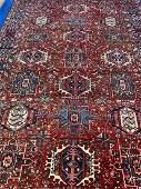 Semi Antique Hand Woven Persian Heriz 7.11x5.11