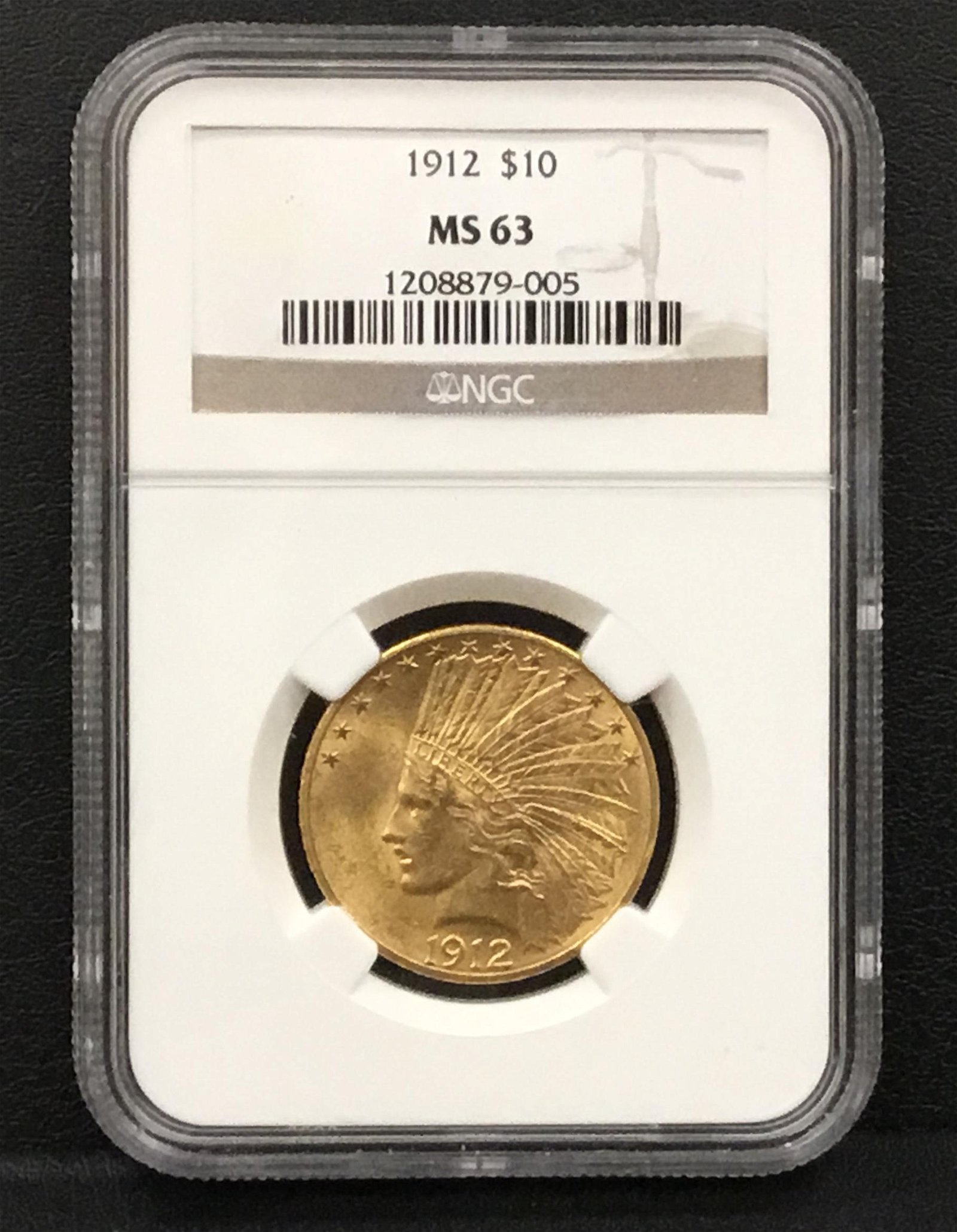 1912 $10 Indian Head Gold Coin