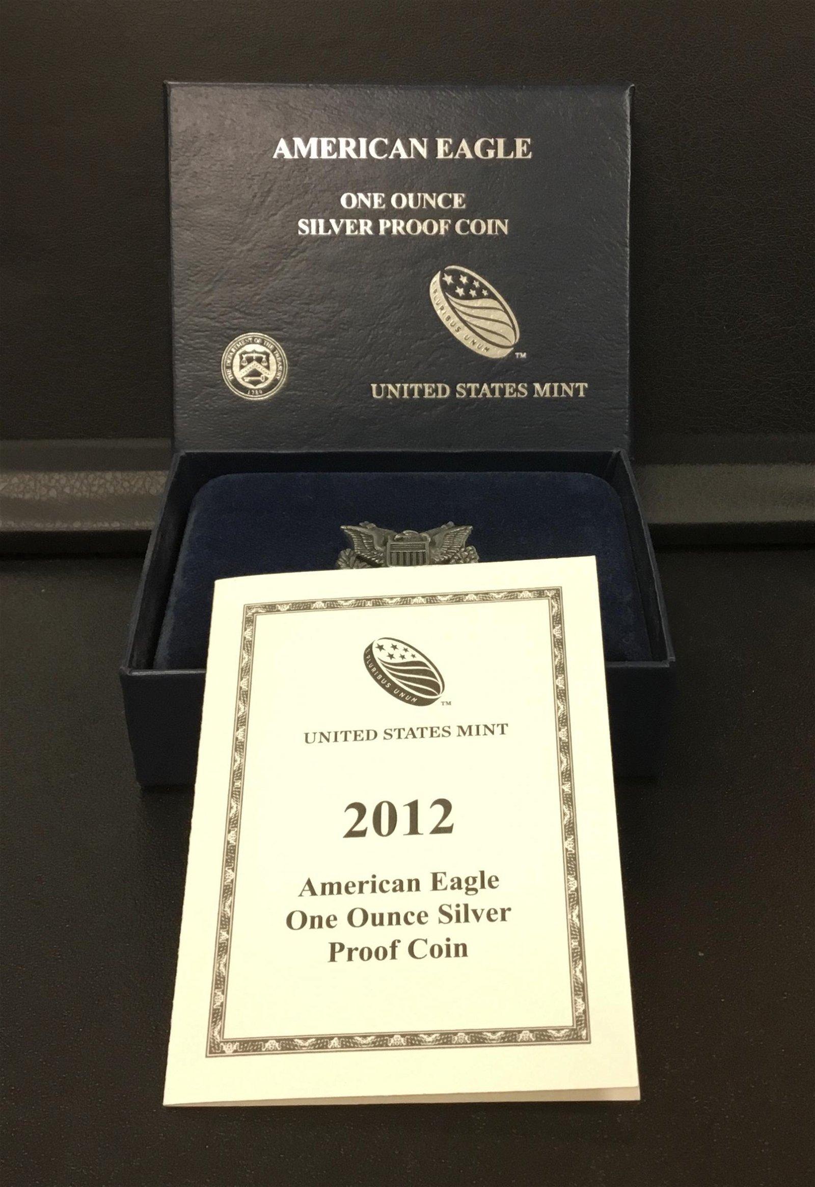 2012 American Silver Eagle $1