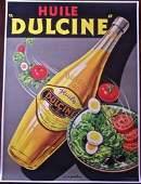 Huile Dulcine 1940 46 x 6275 French Advertising