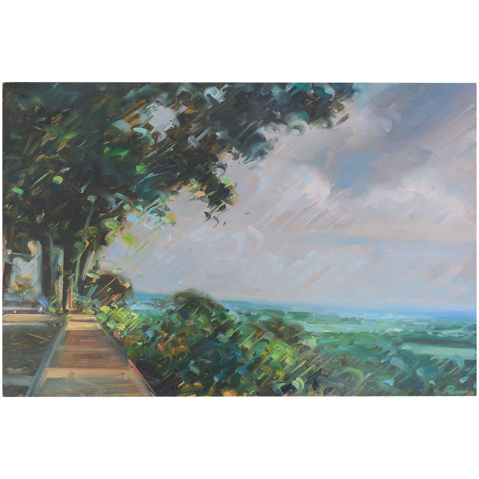 Chris Nissen (American, 1949) Seascape Painting,