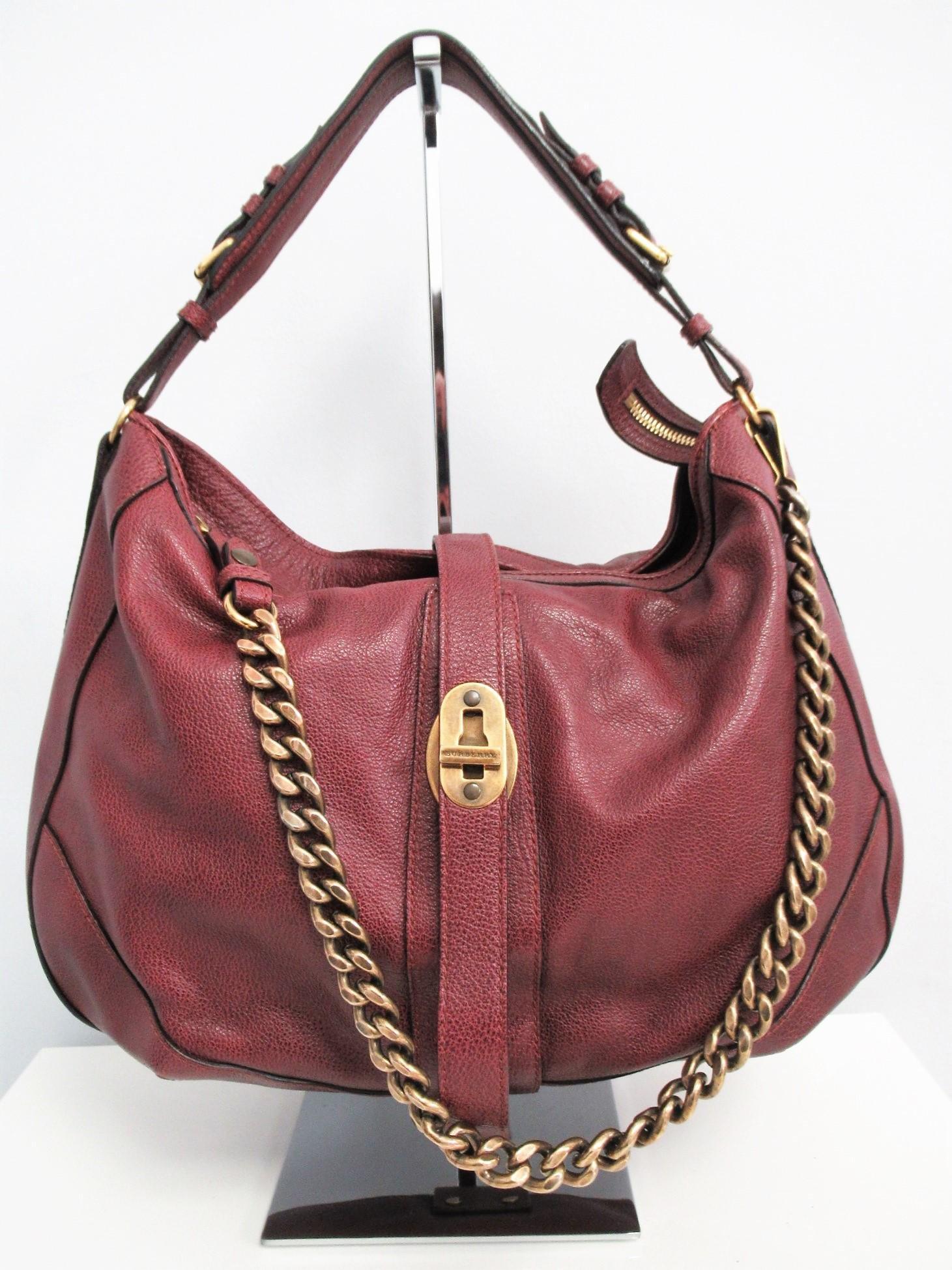 """BURBERRY"" Leather shopper bag"
