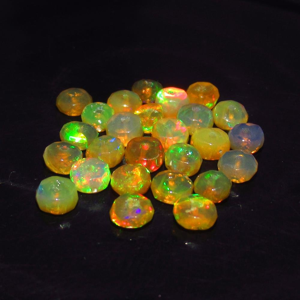 6.00 Ct Natural 26 Drilled Multi-Color Faceted Fire
