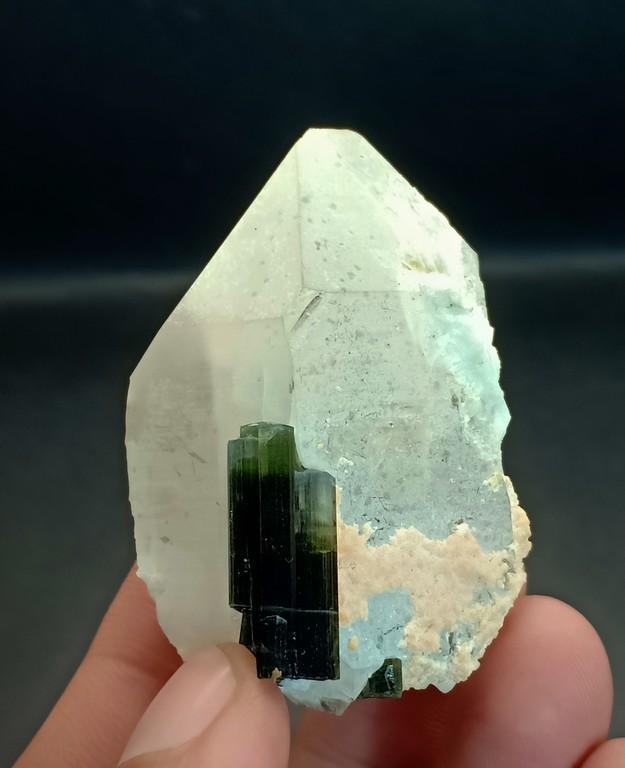64 Gram Amazing Natural Green Cap Tourmaline With