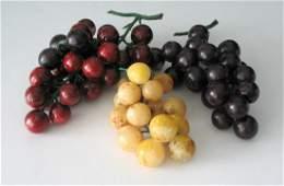 Vintage stone grape clusters.