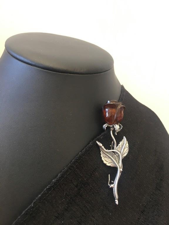 Incredible Unique Antique Amber Brooch