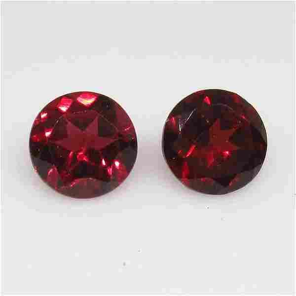 325 Ctw Natural Pink Rhodolite Garnet Round Pair