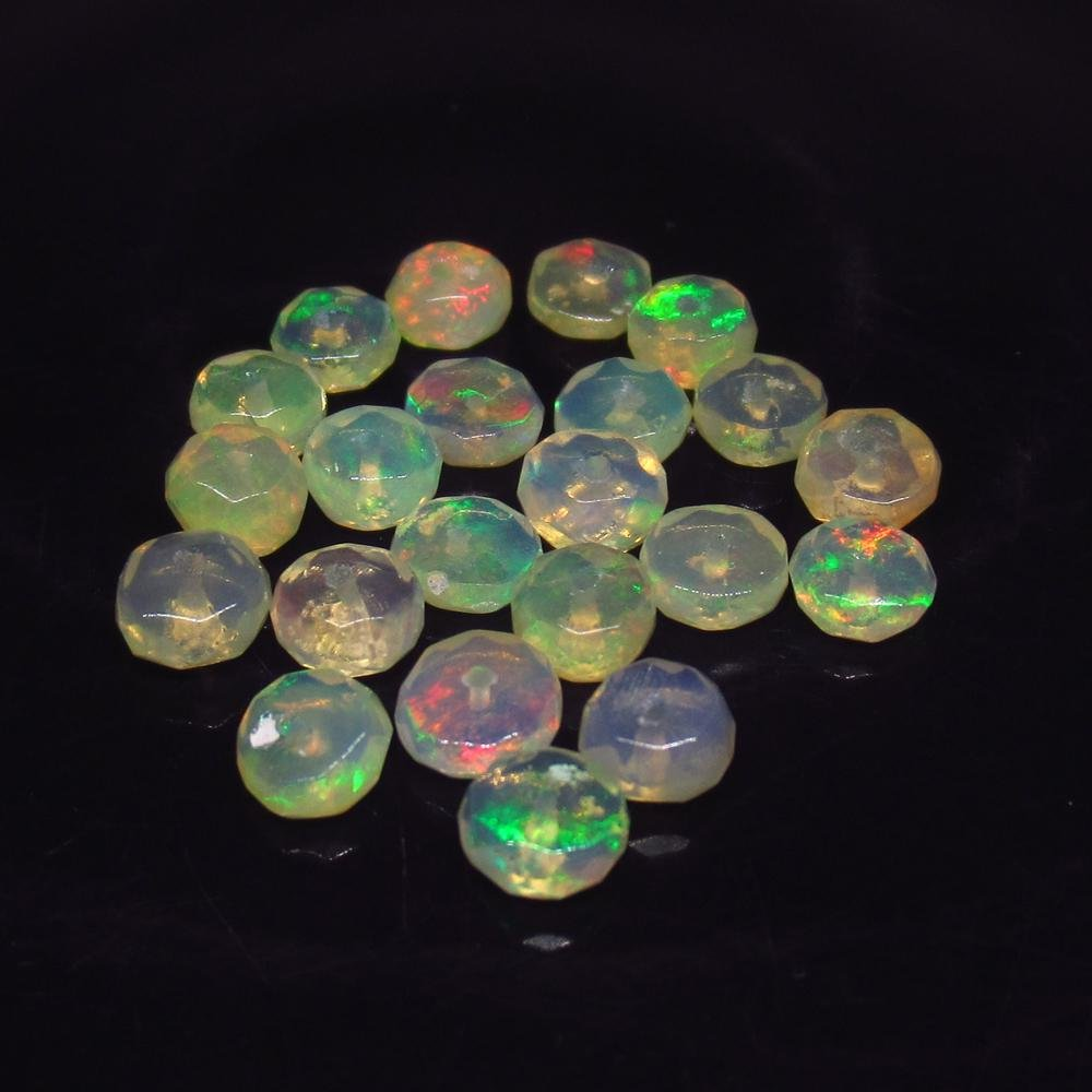 5.23 Ct Natural 22 Drilled Multi-Color Faceted Fire