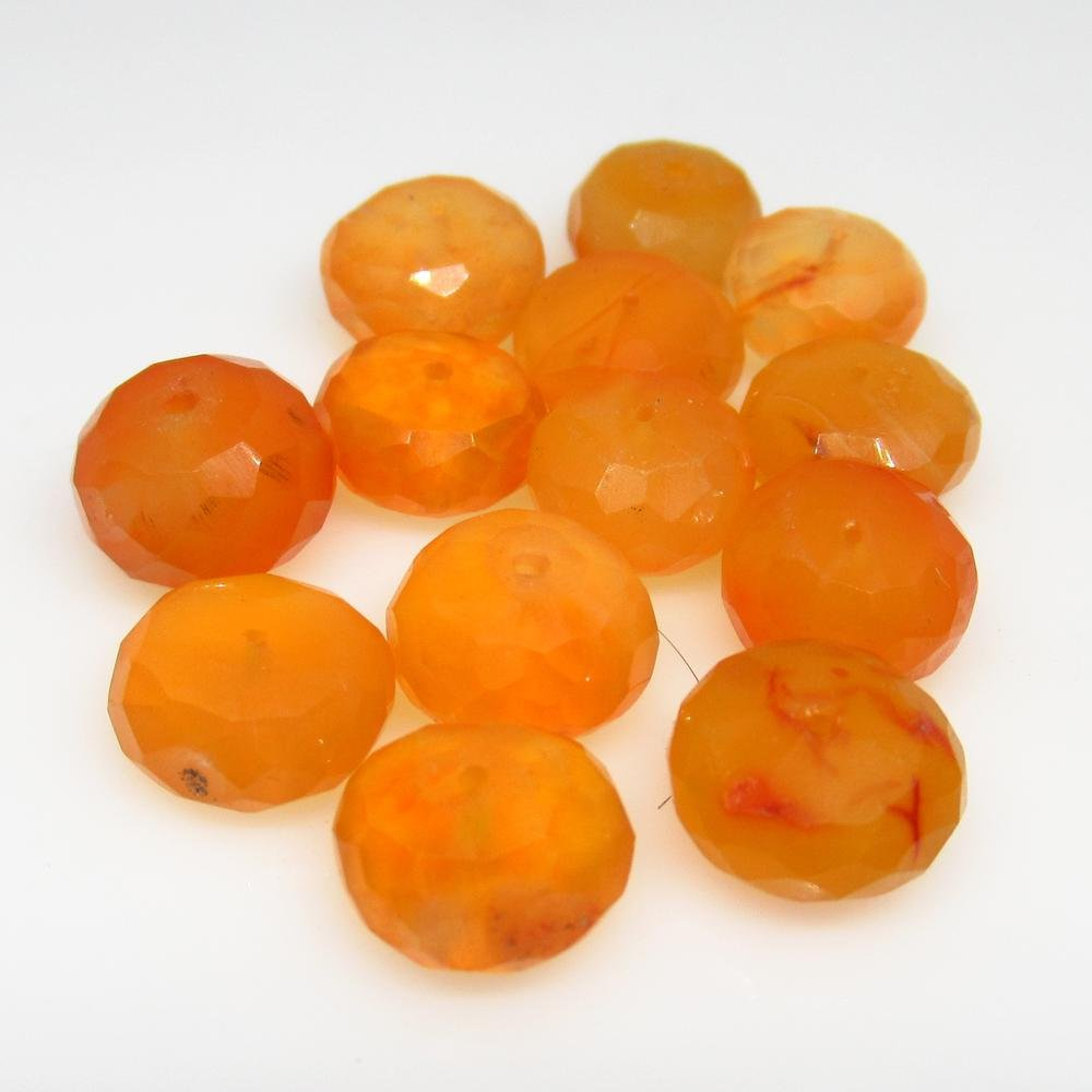 33.14 Ct Natural 13 Carnelian Drilled Round Beads