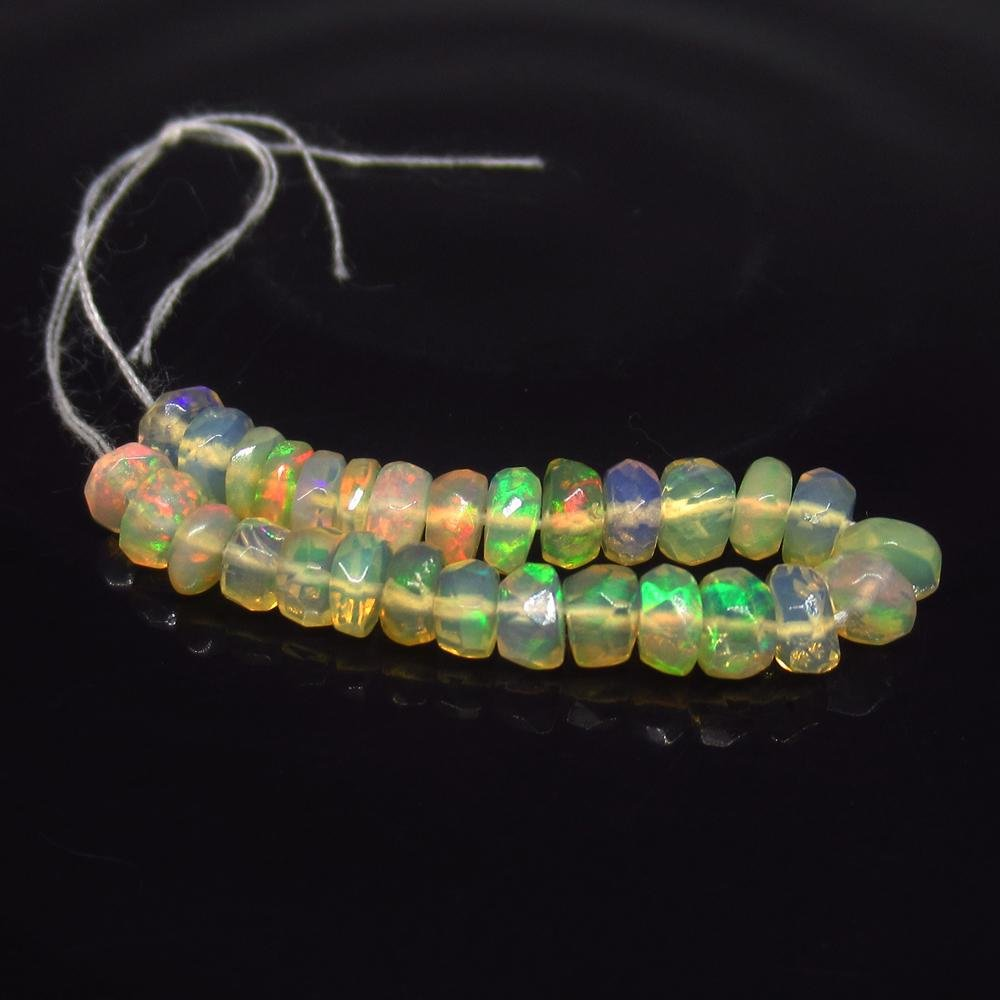 4.96 Ct Natural 29 Drilled Multi-Color Faceted Fire