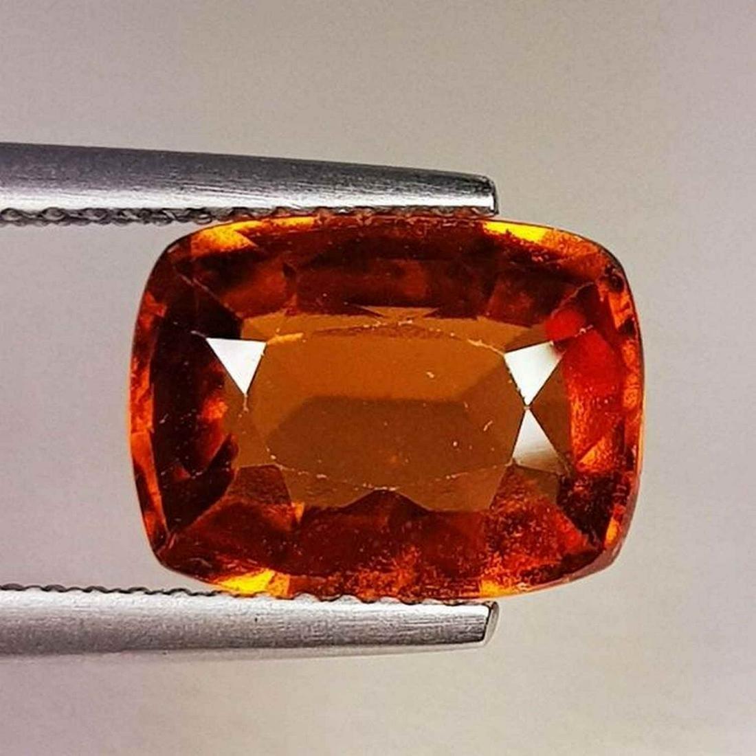 Natural Hessonite Garnet Cushion Cut 3.77 ct