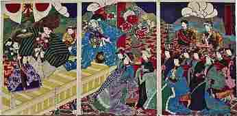 Artist: Yôshû CHIKANOBU Subject: The Emperor and