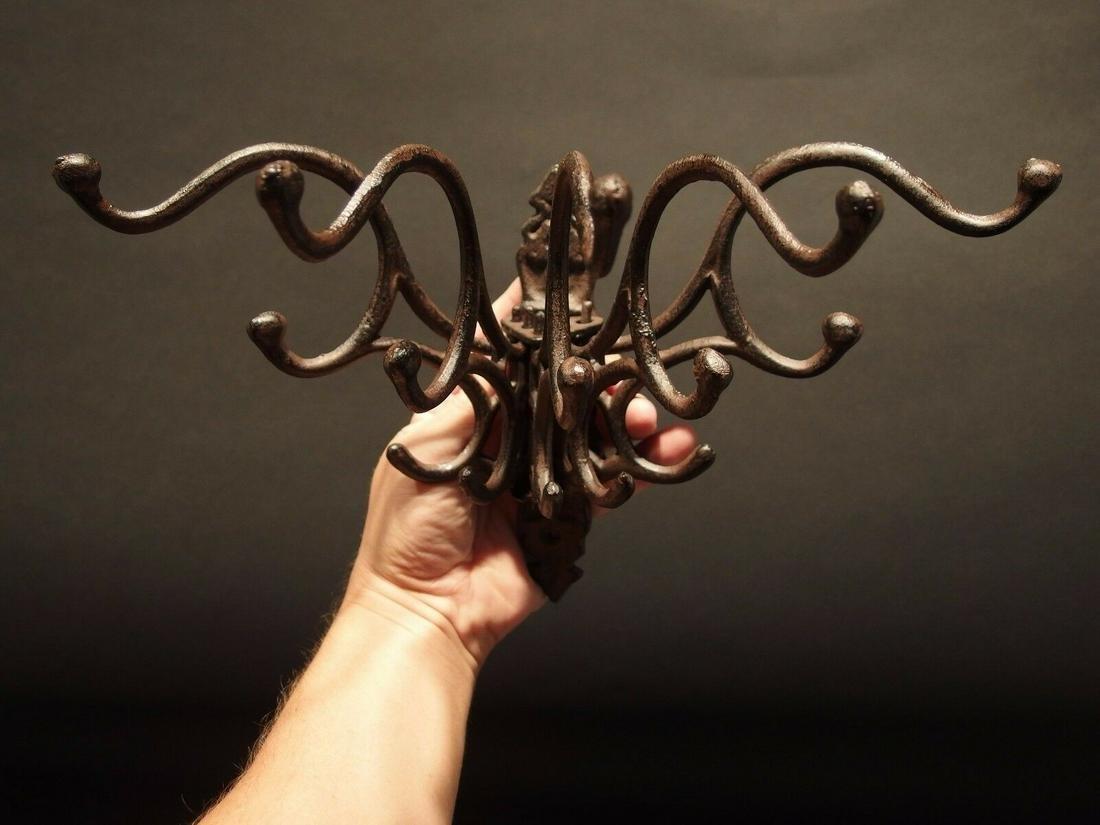 Vintage Antique Style Rotating Metal Wall Mount Spinning Coat Hook//Hanger//Holder