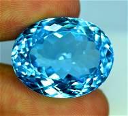 33.50 cts Stunning Swiss Blue Topaz Gemstone - 20*16*11