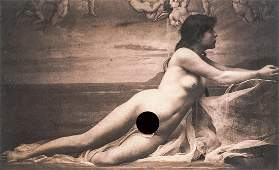 GUGLIELMO MARCONI - Nude Study, 1870