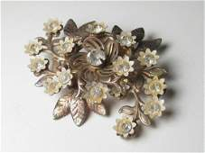 Vintage from the 1940s Materials rhinestone, glass,