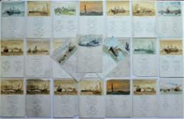 c1904 LOT of 24 MENU CARDs NORDDEUTSCHER LLOYD BREMEN