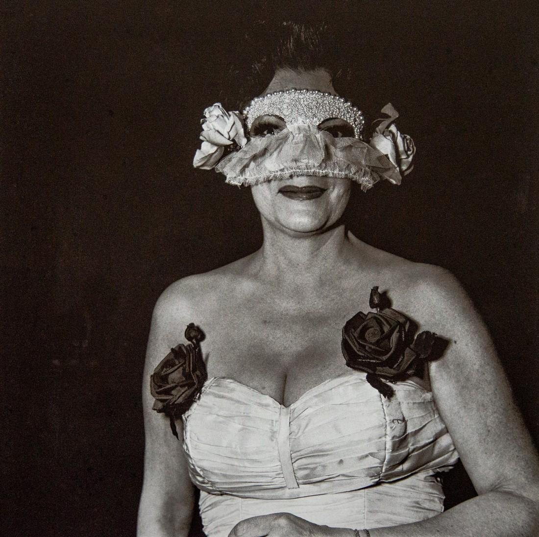 DIANE ARBUS - Lady at Masked Ball, NYC, 1967
