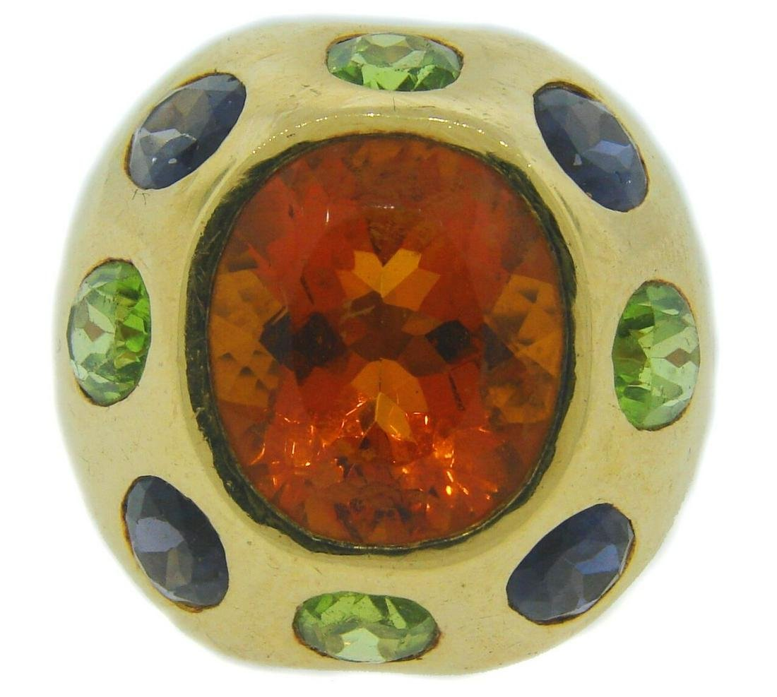 CHANEL Yellow Gold RING with CITRINE TANZANITE PERIDOT