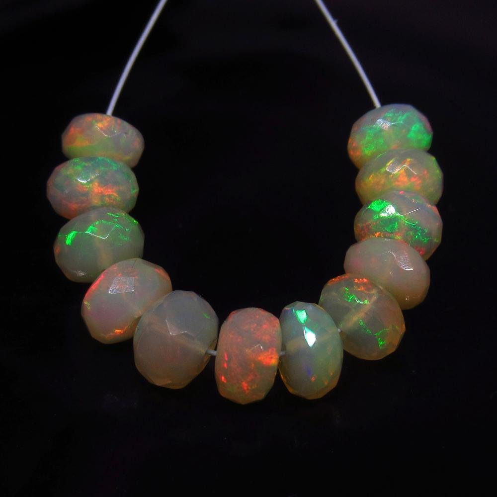 6.65 Ct Natural 12 Drilled Multi-Color Faceted Fire