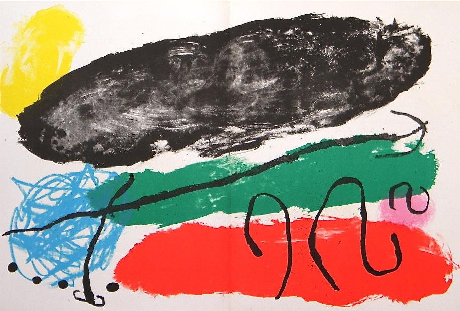 Joan Miro original lithograph, 1960