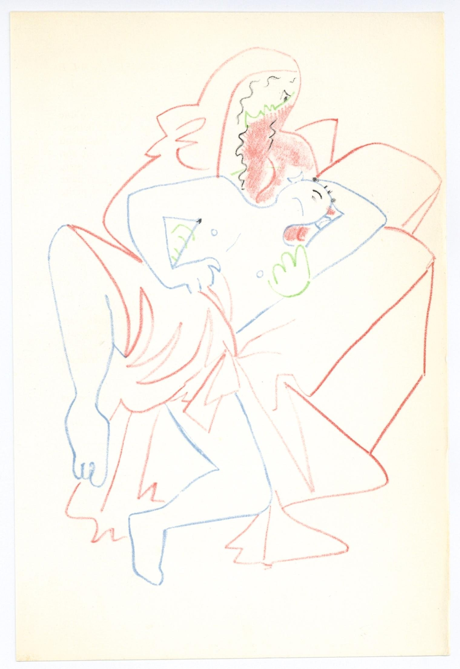 Jean Cocteau original lithograph | Infernal Machine