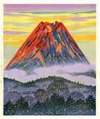 Masao Ido: Mt. Fuji 2007 Woodblock