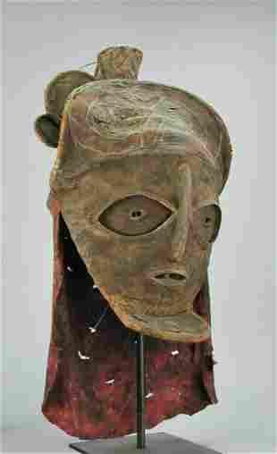 Angola LOVALE Mask CHOKWE Tshokwe African Tribal Art
