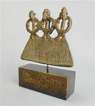 SENUFO Bronze superb pendant Senoufo Ivory Coast