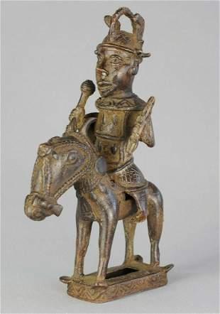 Equestrian Bronze Figure Horse Rider Brass statue