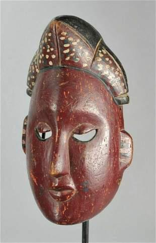 Beautiful polychrome IBIBIO Wood Mask Nigeria African
