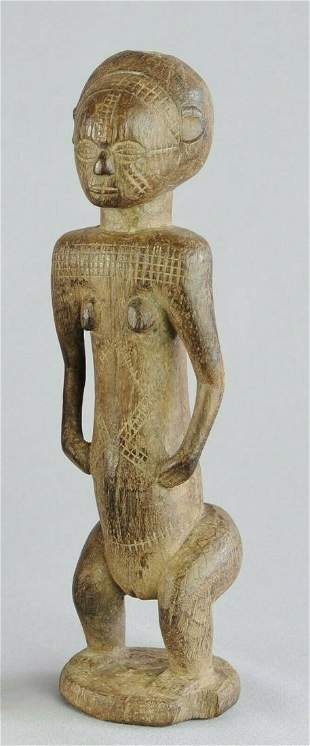 Congo Drc cute TABWA ancestor figure statue African