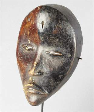 Beautiful two tones DAN mask Ivory Coast African Tribal