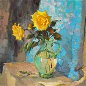 Oil painting Yellow roses Egor Ktpatunov