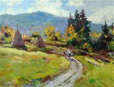 Oil painting Road in the mountain Alexander Nikolaevich