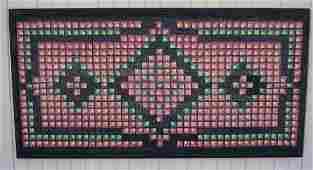 Boston Commons Geometric Designed Hooked Rug