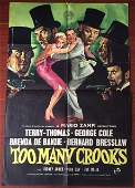 Too Many Crooks - 1958 C.o.o. English One Sheet Poster