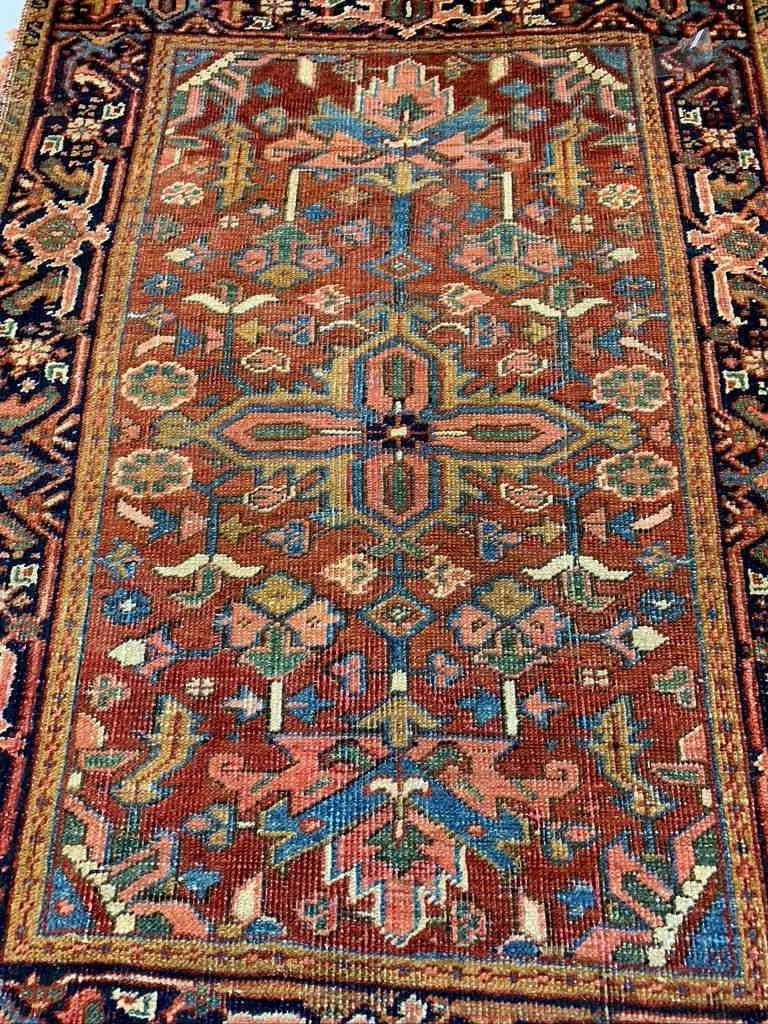 Semi Antique Hand Woven Persian Heriz 4.3x3.4