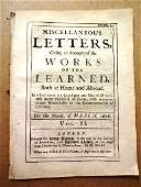 1696 Periodical Miscellaneous Letters