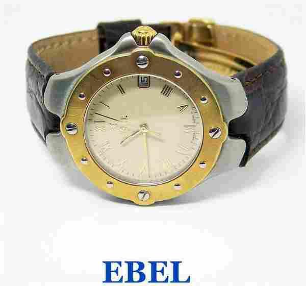 Mens S/Steel & 18k EBEL SPORTWAVE Quartz Watch Ref.