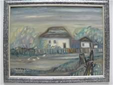 Oil painting RURAL STREET Pushkarev Andrey Tomasovich