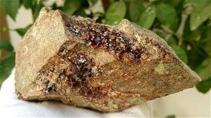 553 Grams Natural hessonite Garnet Cluster Specimen