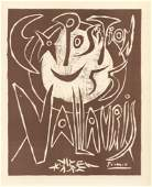 """Pablo Picasso lithograph poster """"Exposition Vallauris"""""""