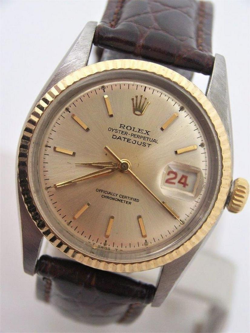 Vintage S/Steel & 18k ROLEX Bubble Back Automatic Watch