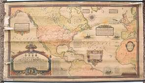 1928 Clegg Map of the Flights of Charles Lindbergh --