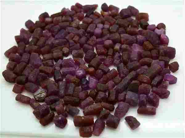170 Grams Beautiful Rough Ruby Crystals